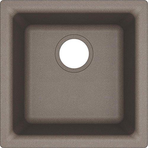 (Elkay Quartz Classic ELG1616GR0 Greige Single Bowl Dual Mount Bar Sink)