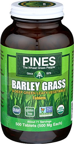 (Pines Organic Barley Grass, 500 Count Tablets)
