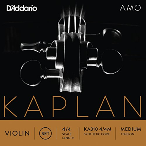 D'Addario Kaplan Amo Violin String Set, 4/4 Scale, Medium Tension (String E Kaplan)