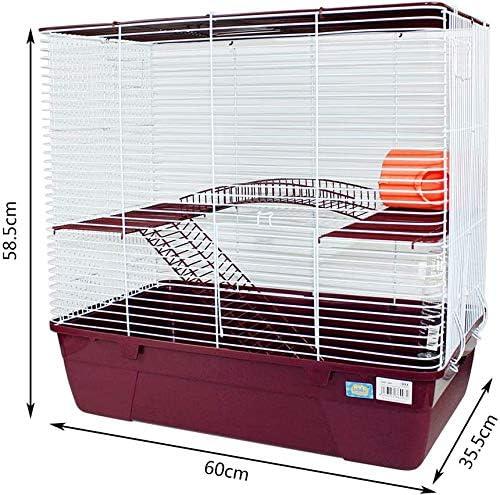 Jaula Hámster 2 Pisos con Escalera Jaula para Hamster Jaula jerbos Degus Jaula para pequeños roedores (Rojo): Amazon.es: Productos para mascotas