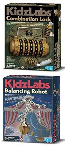 KidzLabs Combination Lock & Balancing Robot Science Kits