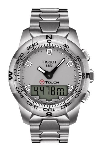 Tissot Men's T0474201107100 T-Touch II Grey Digital Multi Function Watch