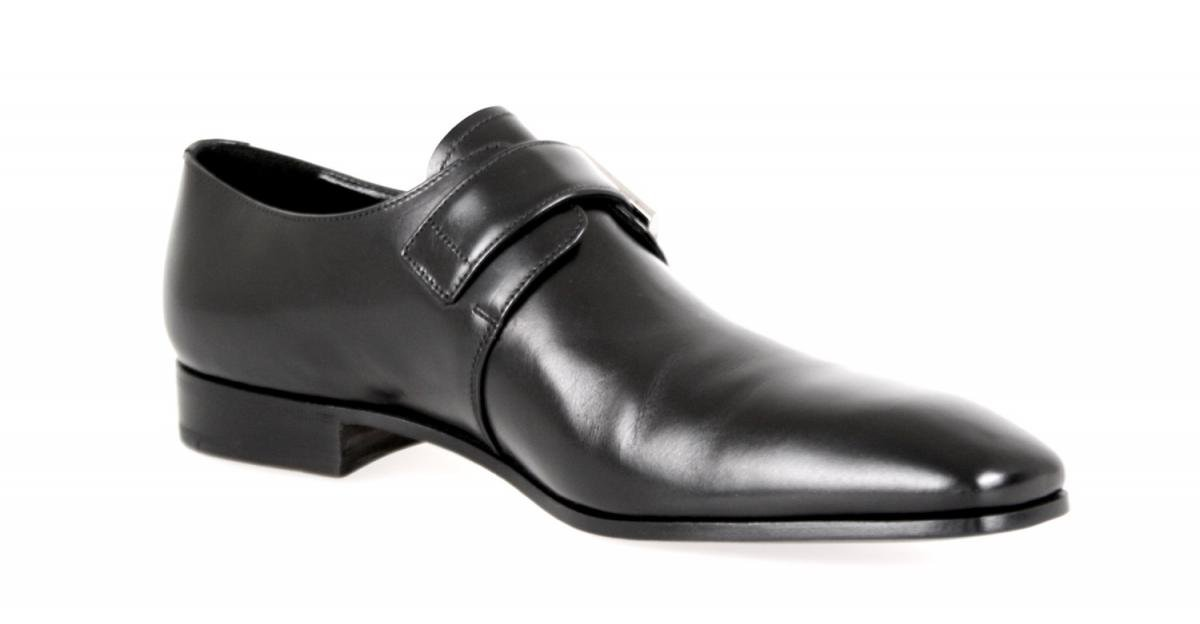 Prada Men's 2OA011 Black Leather Business Shoes EU 9.5 (43,5) / US 10.5 by Prada (Image #7)
