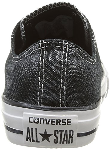 Taylor Womens Black Converse Sparkle Wash Trainers OX Femme Star Chuck All qTd4Ed