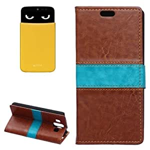 Crazy Horse Texture Horizontal Flip Color Matching Leather Case with Card Slots & Wallet & Holder for LG AKA (Brown)