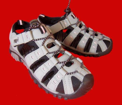 PDQ SASHA Ladies Toggle & Velcro Summer Trail Sandals Red Grey/Pink Rr9flpu