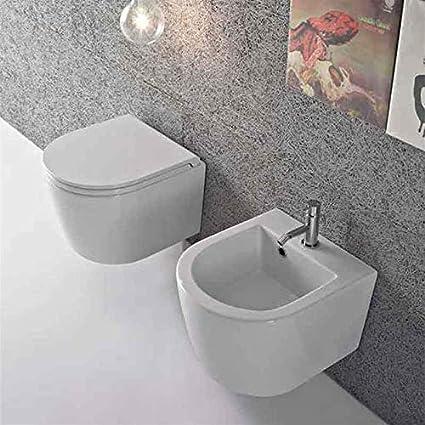 Sanitari Sospesi Ceramica Globo Forty3 da 43 cm WC + BIDET + SEDILE ...