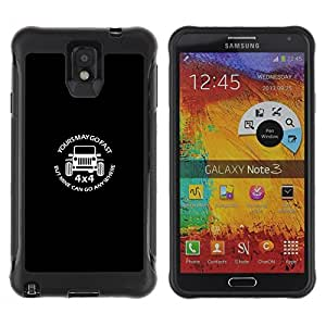 Suave TPU GEL Carcasa Funda Silicona Blando Estuche Caso de protección (para) Samsung Note 3 / CECELL Phone case / / Car Power Fast Off Road Quote /