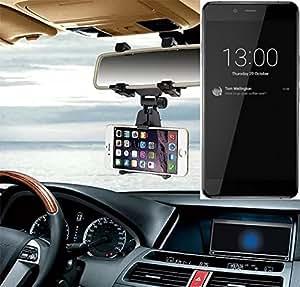 Sostenedor del montaje espejo retrovisor para OnePlus X, negro   Escuadra de coches - K-S-Trade (TM)
