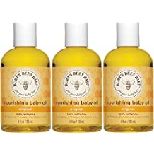 Burt's Bees Baby Nourishing Baby Oil, 100% Natural Baby Skin Care - 4 Ounce Bottle (Pack of 3)