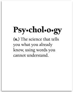 product image for Psychology - The Science that Tells You What You Already Know - Dictionary Quote - 11x14 Unframed Art Print - Great Gift and Decor for Psychologists Under $15