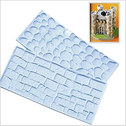BONYTAIN 2 piezas de piedra azul para decoración de tartas, fondant, herramientas de decoración