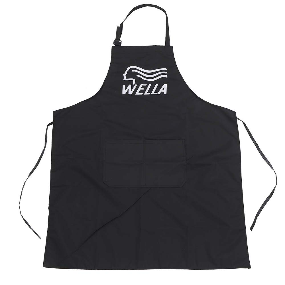 Anself Hairdresser Apron Professional Salon Hairdressing Cutting Barber Cape Adjustable with Pockets Black W7236-LF9P2A