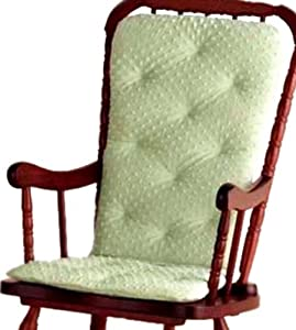 Baby Doll Bedding Heavenly Soft Adult Rocking Chair Cushion Pad Set, Sage (Chair not included)