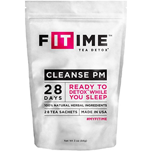 Detox Tea Premium Day & Night. 28 Day Teatox: Reduce Bloating and Constipation. Natural Appetite Supressant. Tea Sachets. Ultimate Body and Colon Cleanse. By Fitime
