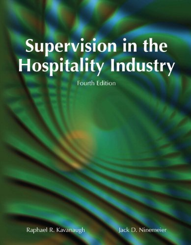 Supervision in the Hospitality Industry with Answer Sheet (AHLEI) (4th Edition)