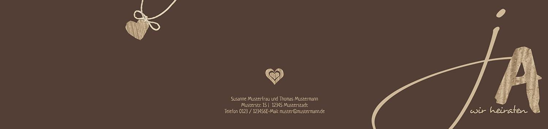 Hochzeitskarten  Einladung natürlich Ja 2, hochwertige Einladung zur zur zur Heirat inklusive Umschläge   30 Karten (format  148.00x105.00mm) Farbe  Braun B074Z3Q6RY   Online    Deutschland Outlet    Grüne, neue Technologie  a85663