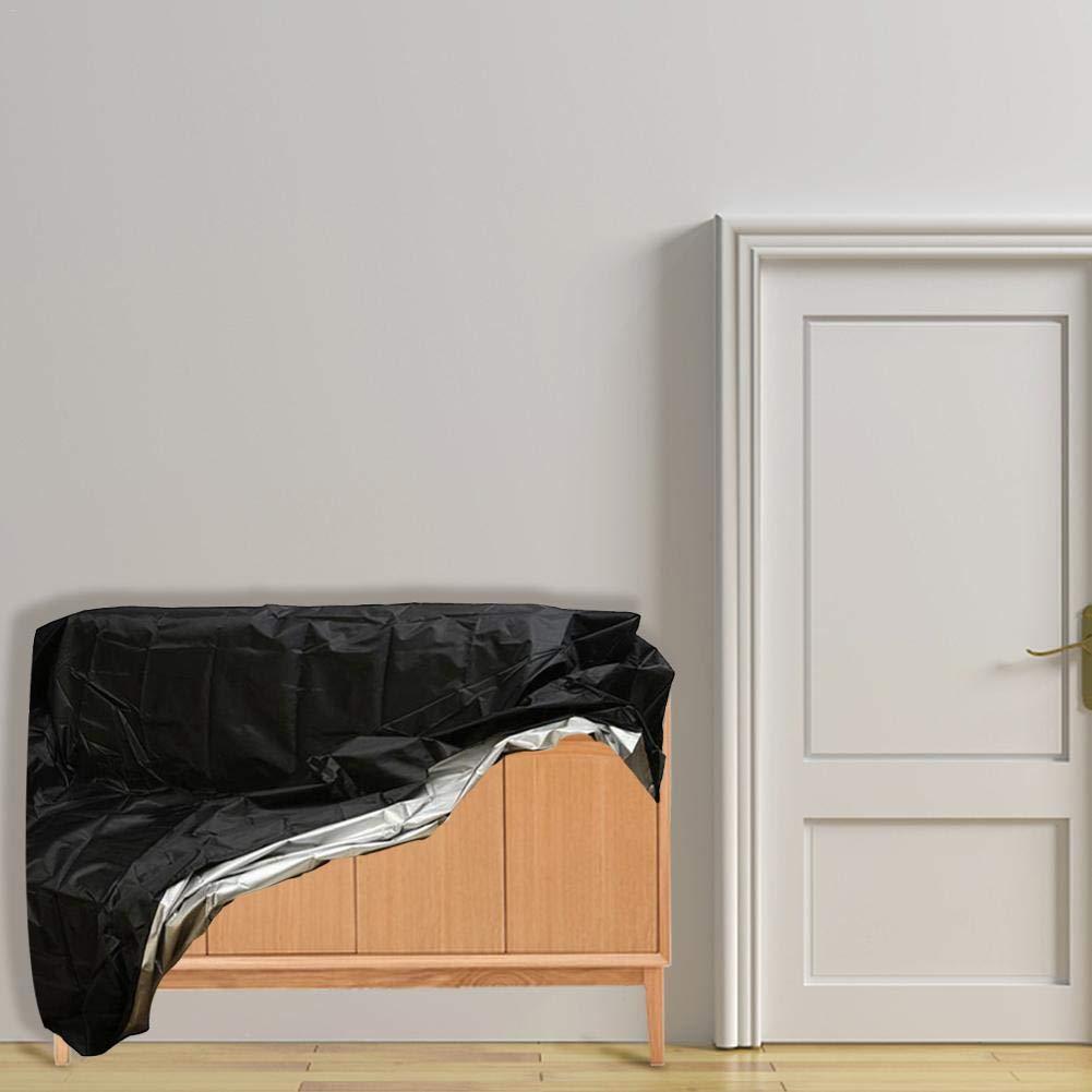 Nero copridivano Universale Protettiva di Protezione UV per Esterni panche e mobili per la casa dizi248/Resistente e Impermeabile mobili da Giardino Small