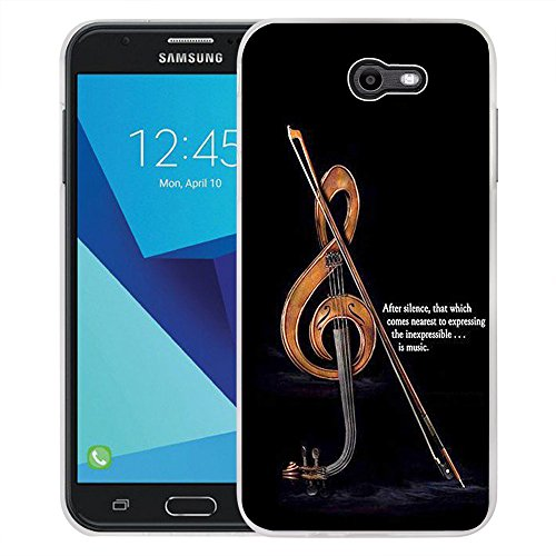 Galaxy J7 V Case, Galaxy J7 Perx Case, Galaxy J7 Sky Pro/Galaxy Halo Case, Viewll Samsung Galaxy J7 2017 Case Retro violin (List Of Best Violin Brands)