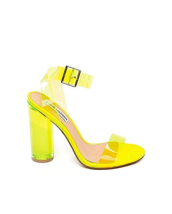 Sandalias Steve Madden de color amarillo fosforito