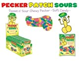 Pecker Patch Sours Shaped Gummy Candy (12 Pack)