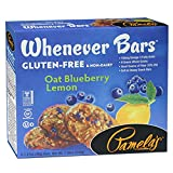 Pamela's Products Gluten Free  Whenever Bars, Blueberry Lemon, 5 Count Box, 7.05-Ounce (Pack of 6)