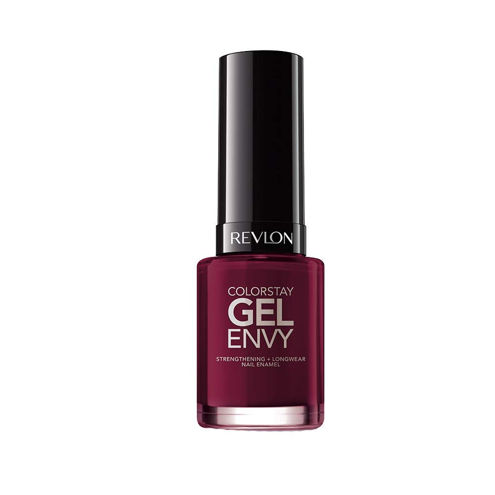 Revlon ColorStay Gel Envy Longwear Nail Polish, with Built-in Base Coat & Glossy Shine Finish, in Red/Coral, 600 Queen of Hearts, 0.4 oz