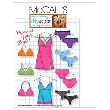 Amazon Com Mccall S Patterns M5651 Misses Panties Bras Camisole