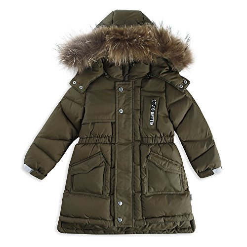 OK.OU Baby Little Boys Long Pure Color Stand Collar Hooded White ...