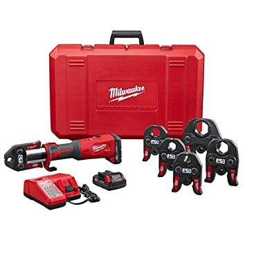 Milwaukee 2773-22 M18 18v Force Logic Press Tool Kit With 1/2 - 2 Jaws