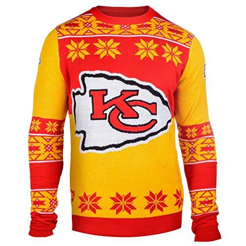 Klew Ugly Sweater Kansas City Chiefs, XX-Large (Kansas Christmas City)