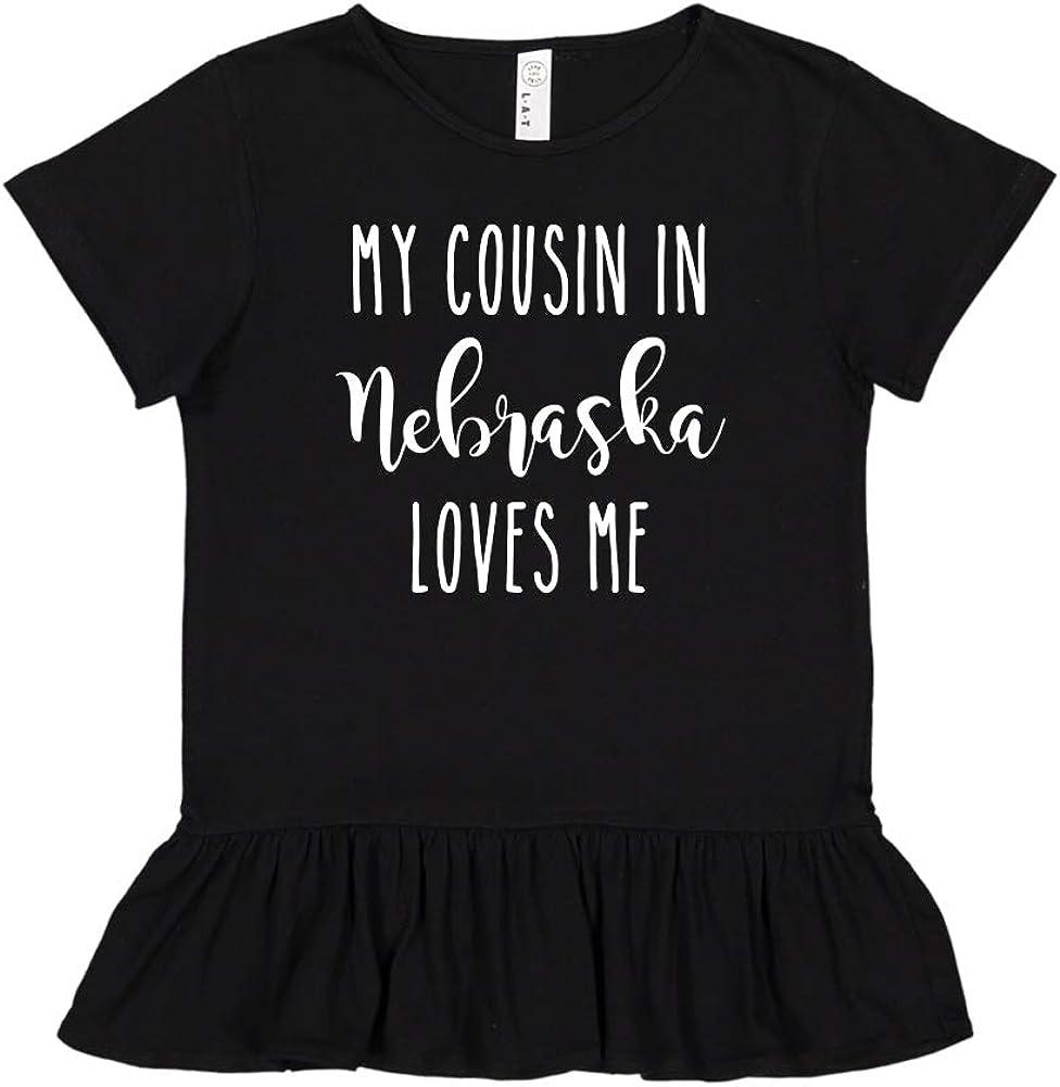 Toddler//Kids Ruffle T-Shirt My Cousin in Nebraska Loves Me