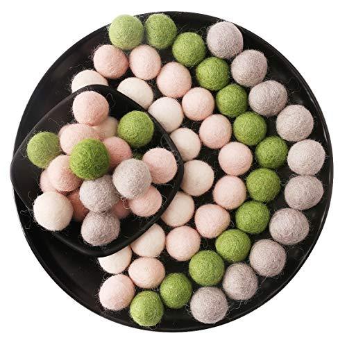 Promise Babe Wool Felt Balls Pom Pom Garland Nursery Decor Garland Birthday Party Decorations 20mm 60pc