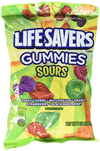 LifeSavers Gummies Candy Sours, 5 Flavors 7 oz (Pack of 1) -