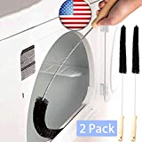 Clothes Dryer Lint Vent Trap Cleaner Kit Brush 2 Pack Gas Electric Long Flexible Fire Refrigerator Coil Brush
