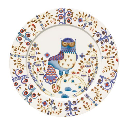 - Iittala Taika Dinner Plate, White, 11-3/4-Inch