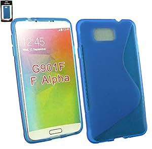 Emartbuy® Samsung Galaxy Alpha SM-G850F Ultrafina a Presión TPU Gel Funda Carcasa Case Cover Azul