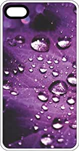 meilz aiaiWater Drops On Purple Leaf Background White Plastic Case for Apple iPhone 5 or iPhone 5smeilz aiai