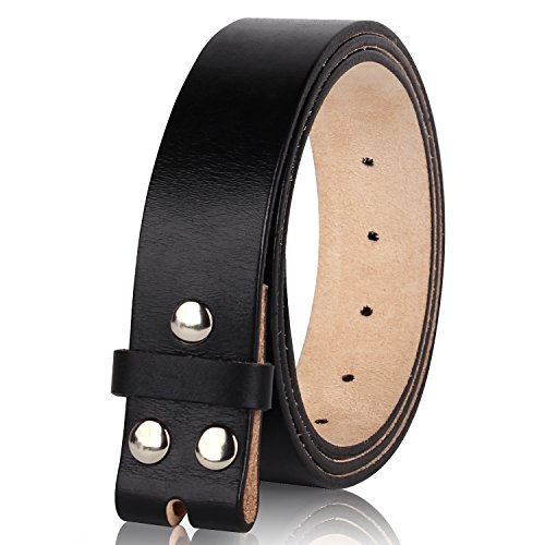 "NPET Men's Classic Full-Grain Belt Genuine Leather Belt without Belt Buckle 1.5"" Wide"