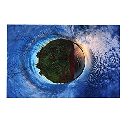 eDealMax Patrón Naturaleza Ojos 15,6 portátil piel del vinilo de la etiqueta engomada Azul