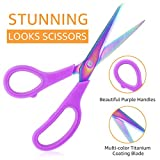 eZAKKA Premium Tailor Scissors Titanium Soft Grip