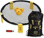 Bochamtec Strikeball 3 Ball Game Kit - Updated Bounce Net Includes Playing Net, 3 Balls, Carring Bag, Rule Boo