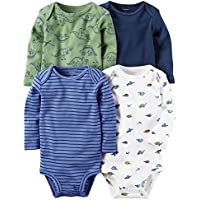 Baby Boys' 4-Pack Dino Bodysuits 6 Months
