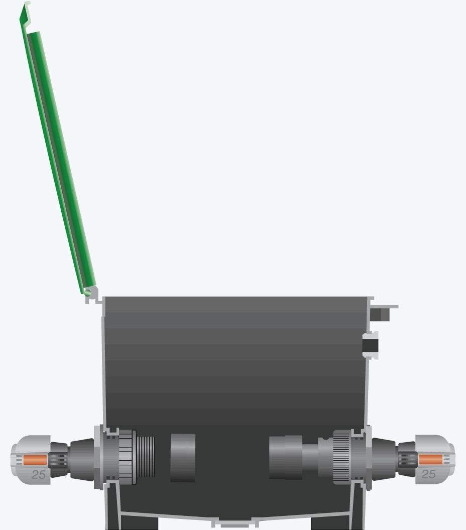 Gardena Sprinklersystem Endst/ück: Verschluss-St/ück f/ür Gardena Verlegerohr werkzeuglose Montage kompatibel mit Gardena Verlegerohre Quick/&Easy Verbindungstechnik 2778-20 Rohrverbindung 25 mm