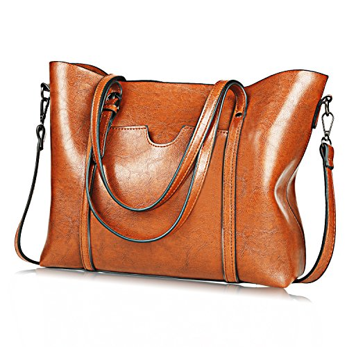 (Upgraded Version) JUNDUN Women Bag Top Handle Satchel Vintage Shoulder Bag Tote Purse Large Capacity Bags