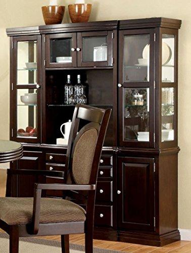 Furniture of America FA-CM3418HB Hutch Buffet Walnut ()