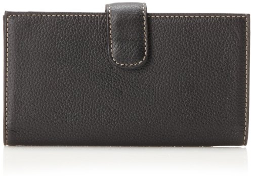 Mundi  Rio Leather Checkbook Cover Wallet,Black,one - Ladies Checkbook Black Wallet