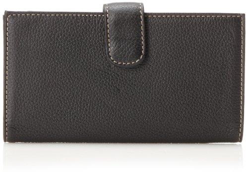 Mundi  Rio Leather Checkbook Cover Wallet,Black,one - Wallet Black Ladies Checkbook