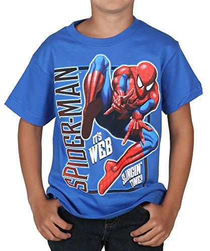 Spiderman Boy's Thwip It Good, Royal, 7