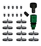 Bangder Misting Nozzle Tees Cooling Fitting for Outdoor Cooling System (23pcs)